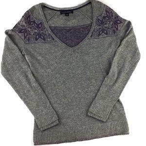 Banana Republic Wool Cashmere Blend V Neck Sweater
